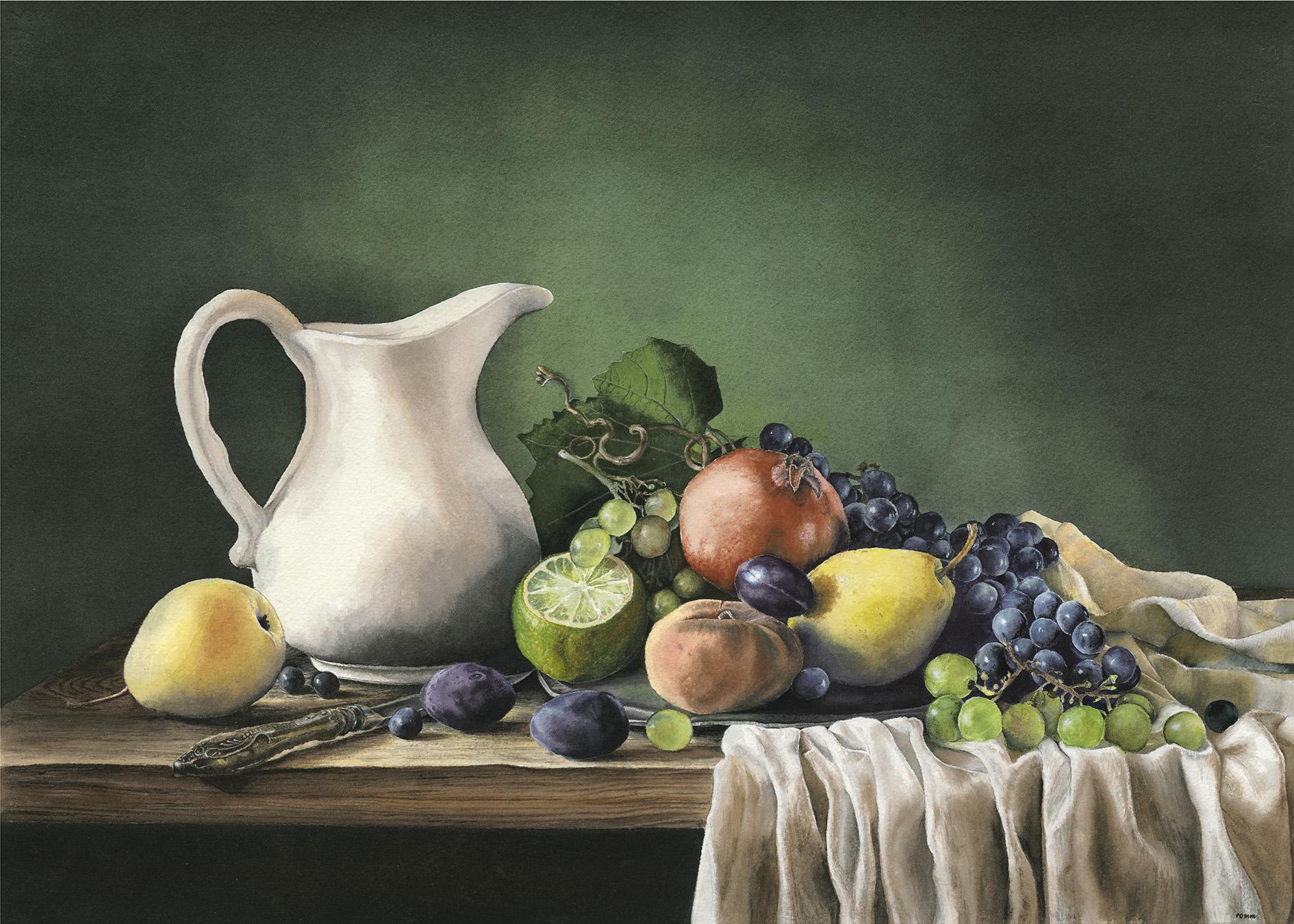 """For John Lynch, MD."" 27 x 20. Watercolor. 2021"